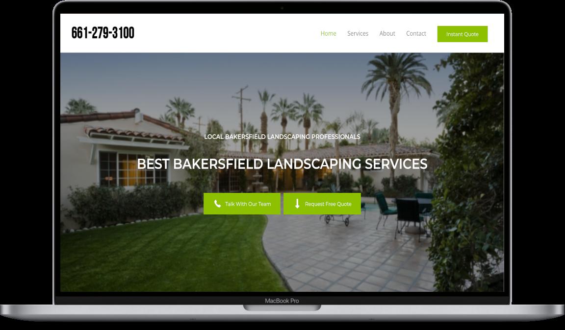 website design landscaping bakersfield