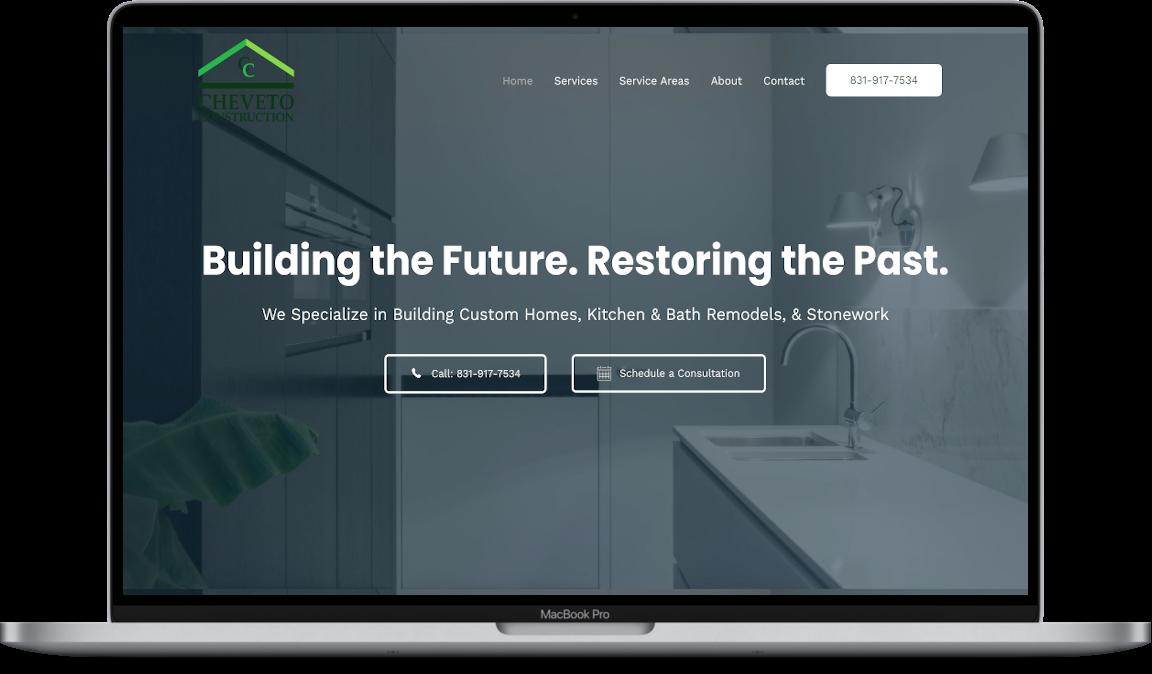 website design cheveto construction