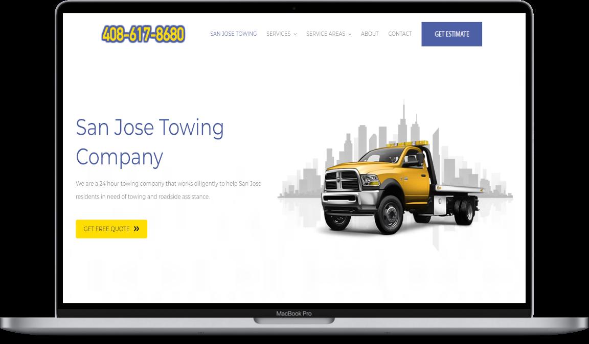 Website Design Towing San Jose CA